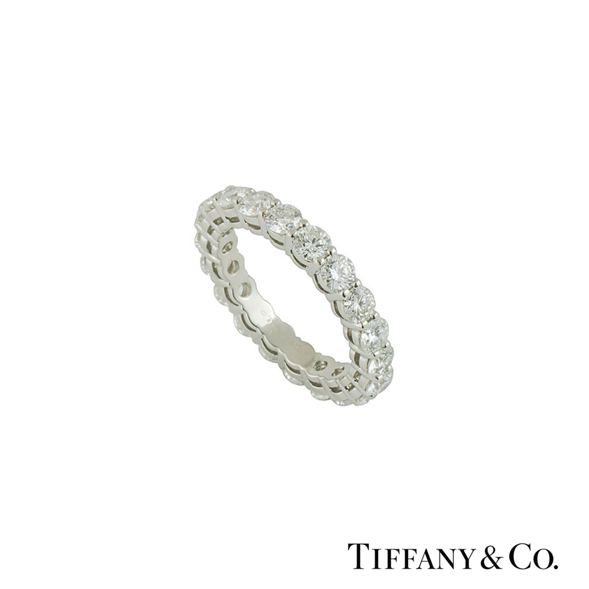 Tiffany & Co. Platinum Diamond Embrace Ring 3.18ct F+/VS+